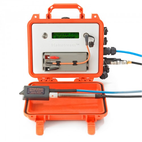 PORTABLE AV-Flowmeter with Velocity and Level Sensor