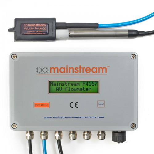 PREMIER AV-Flowmeter with Velocity and Level Sensor
