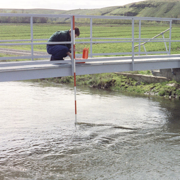 Measuring river water